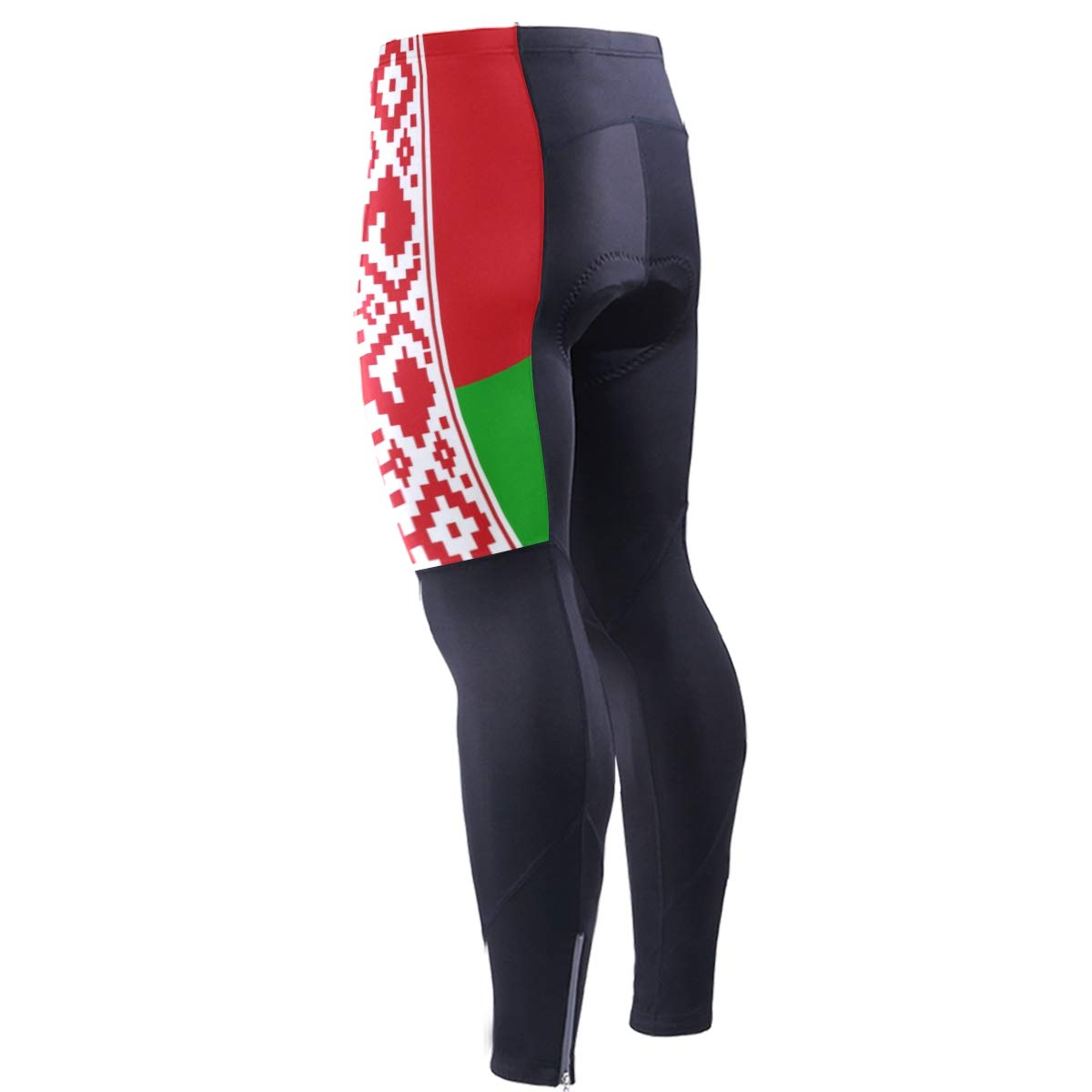 CHINEIN Mens Cycling Jersey Long Sleeve with 3 Rear Pockets Suit Belarus Flag