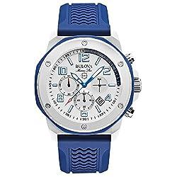 Bulova 98B200 Mens Marine Star Blue Chronograph Watch