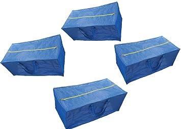 Bolsas de almacenamiento con cremallera, extra grande, color azul, compatible con la bolsa de almacenamiento de IKEA Fratka: Amazon.es: Hogar
