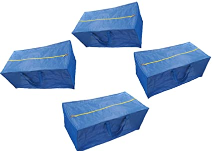 Bolsas de almacenamiento con cremallera, extra grande, color azul, compatible con la bolsa
