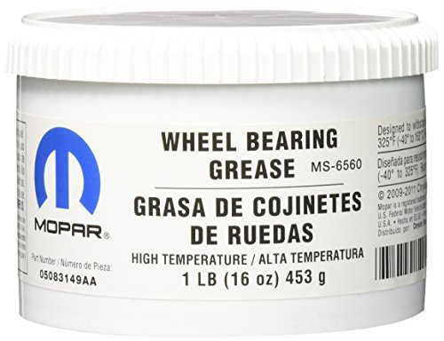 Genuine Chrysler Accessories 5083149AA Wheel Bearing Grease - 1 lb. Tub (Clutch Linkage Yoke)