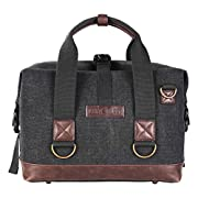 Amazon #DealOfTheDay: K&F Concept Canvas Waterproof DSLR Camera Bag DSLR Messenger Shoulder Bag with Laptop Case for Canon Sony Nikon Olympus DSLR Cameras fits 1 Camera + 2 Lens/Flashlights + other Small Accessories