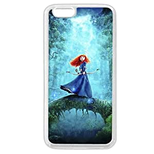 Customized White Soft Rubber(TPU) Disney Brave Princess Merida iPhone 6 4.7 Case, Only fit iPhone 6 4.7""
