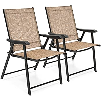 Exceptionnel Best Choice Products Set Of 2 Outdoor Patio Folding Sling Back Chairs  (Brown)
