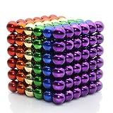 Exblue 5MM Block Ball Cube, Sculpture Building Blocks Toys Intelligence Development Stress Relief, Multicolor