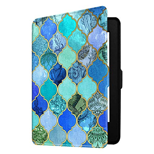 Fintie Slimshell Case for Kindle Paperwhite - Fits All Paperwhite Generations Prior to 2018 (Not Fit All-New Paperwhite 10th Gen), Cool Jade
