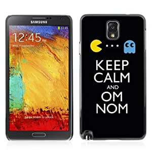 Designer Depo Hard Protection Case for Samsung Galaxy Note 3 N9000 / Keep Calm & Om Nom