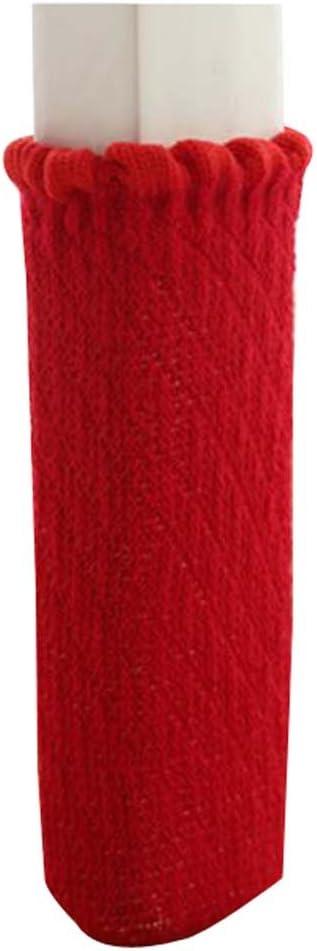 Rojo Black Temptation Juego de 16 Colores Puros de la Silla del pie de la Silla Creativa Calcetines pr/ácticos de la Pierna de la Silla