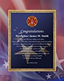 Matted Poems for Fireman Academy Grad School Present Personalized 11x14 Unframed Matted Fire Fighter Academy Graduation Congratulations Poetry Gift Print