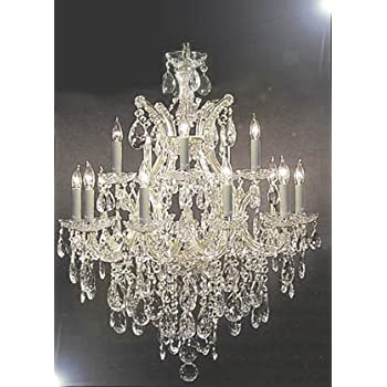 Maria theresa swarovski crystal trimmed chandelier lighting maria theresa swarovski crystal trimmed chandelier lighting chandeliers h30 x aloadofball Gallery