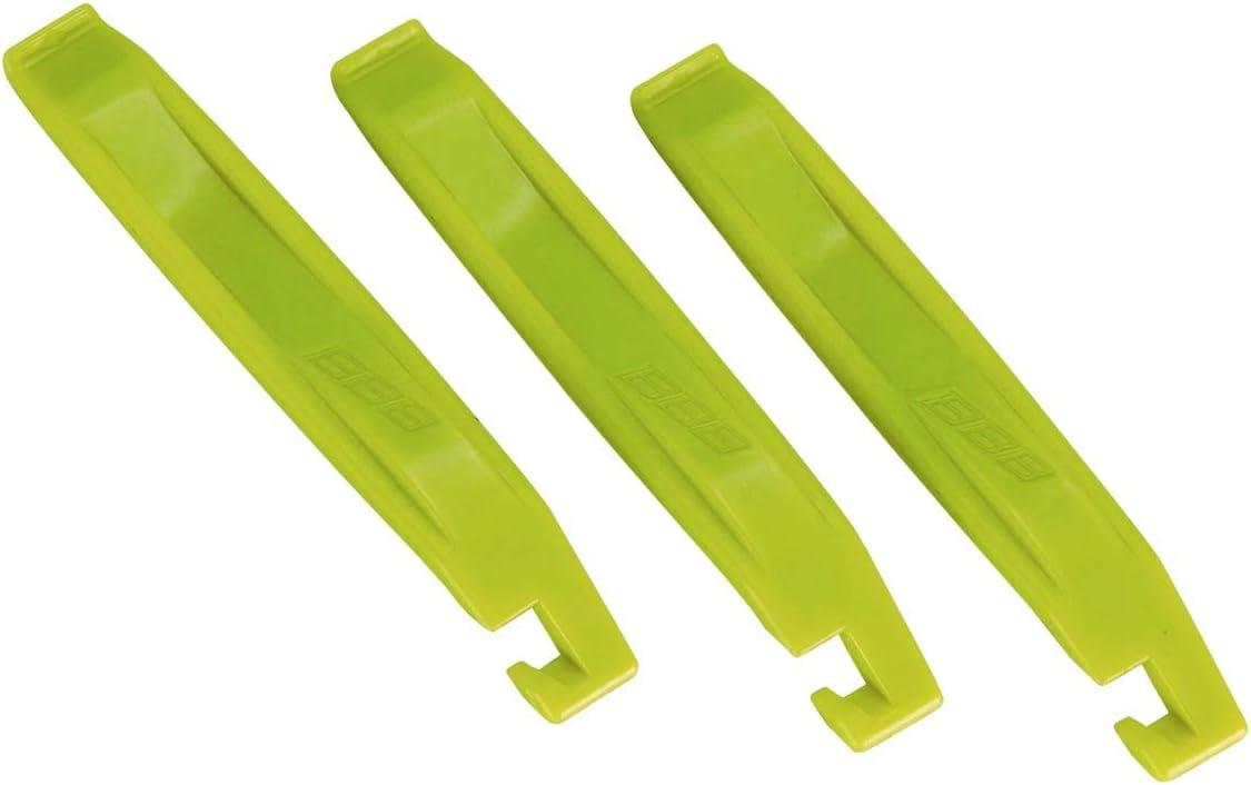 Bbb Cycling BTL-81_Neon Yellow Easy Lift-Juego de Palanca para neumáticos (3 Piezas), Unisex Adulto, Amarillo Fluorescente, Talla única