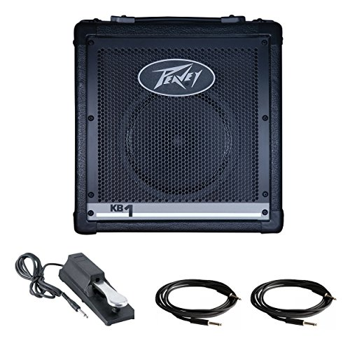 Peavey KB 1 20W Keyboard Amp Including Keyboard Piano Style Sustain Pedal and 10 Foot Cable -