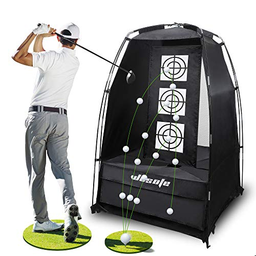 wosofe Golf Practice Driving Hitting Net 3.8 x 6.5 Ft Chipping Professional 2 Target Backyard Indoor Home and Outdoor…