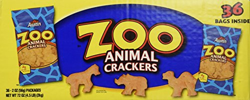 Austin Crackers Zoo - Austin- Zoo Animal Crackers, 36-2 oz. packages