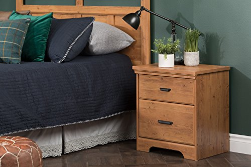 South Shore Versa 2-Drawer Nightstand, Country Pine with Antique Handles by South Shore (Image #2)