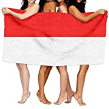HSs4AD Flag Of Indonesia Bath Towel Sports Beach Pool Super Soft Highly Absorbent Washcloth