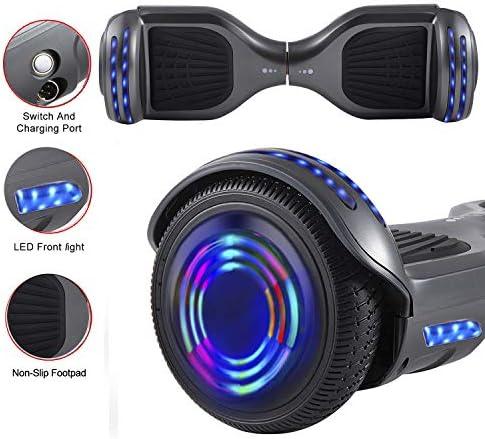 Magic Vida Skateboard Électrique 6.5 Pouces Bluetooth avec LED Gyropode Auto-Équilibrage de Bonne qualité pour Enfants et Adultes