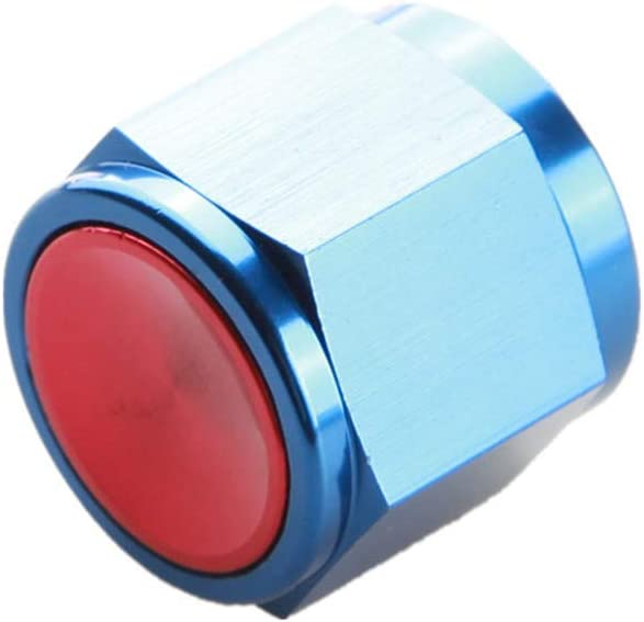 Aluminum AN6 Flare Cap Block off Fitting Adapter Blue