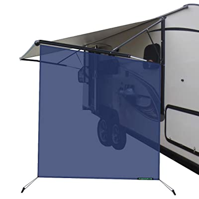 leaveshade RV Awning Sunshade Screen ●Tentproinc Navy Blue Mesh Sun Shade ●Block Sunshine from Patio Side Direction ●Motorhome Camping Trailer UV Sunblocker ●Canopy Sunscreen-3 Years Lasting: Automotive