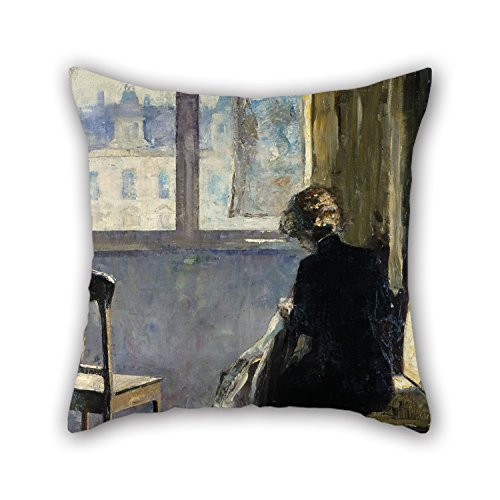 [Pillow Cases 16 X 16 Inch / 40 By 40 Cm(2 Sides) Nice Choice For Play Room,couch,boy Friend,outdoor,him,monther Oil Painting Lesser Ury - The Red] (Simple Nursery Rhyme Costumes)