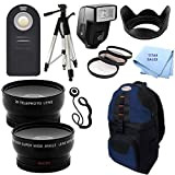 Ultimate Plus Advanced Accessory Package for Nikon D3100 and D3200 Digital Cameras for EF 200MM, EF 300MM, EF 400MM, EF 40MM, EF 40MM, EF-S 24MM Lenses