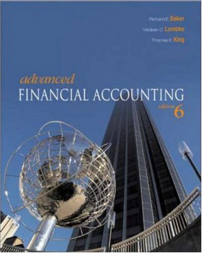 Advanced Financial Accounting -