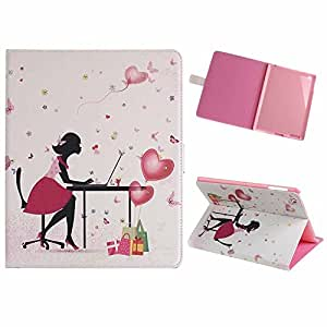 Sealike Case For Apple iPad Air 5 Girls' Flower Floral Series PU Leather Book Bling Case with Stand Function with a Stylus(Floral Girl)