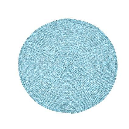 "Urban redondo 15 ""de diámetro de dos tonos Tejido manteles individuales toallitas limpia"