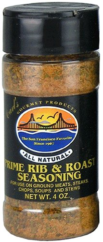 Carl's Gourmet All Natural Prime Rib and Roast Seasoning and Meat Rub – 4 oz