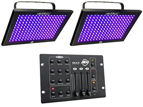 Chauvet Black Shadow - (2) Chauvet DJ LED SHADOW/Club Blacklight Panel LEDSHADOW + DMX Controller