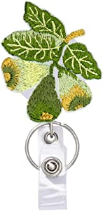 Fig Fruit Food Badge Reels Retractable, with Alligator Clip and Key Ring, 24 inches Thick Pull Cord