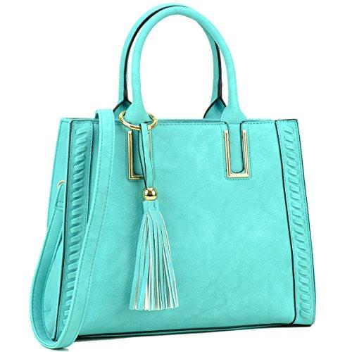 Blue Satchel Handbags - 6