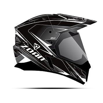 Zoan sincronía duo-sport Hawk mate negro blanco eléctrico lente nieve casco pequeño
