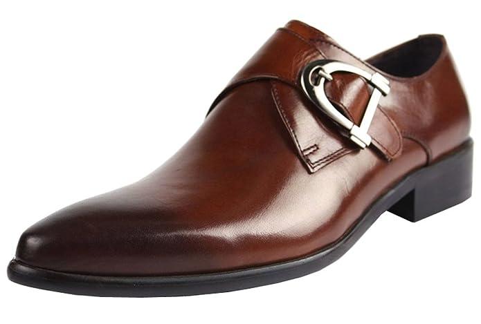 Jsix Hombre De Cuero de Hebilla Formales Zapatos De Vestir De Piel Ocasiones Formales o Informales Caballero - Traje/Fiesta/Boda