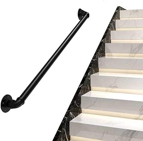 AtR Apoyabrazos de Escalera Pasamanos de Pared Escaleras Pasamanos de Seguridad para Piscina Juego de Soporte de riel de barandilla Negro | para discapacitados, Ancianos o niños en el Interior e: Amazon.es: