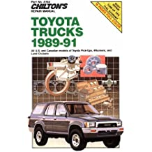 Chilton's Repair Manual: Toyota Trucks 1989-1991: All U.S. and Canadian Models of Toyota Pick-Ups, 4-Runners, and Land Cruisers