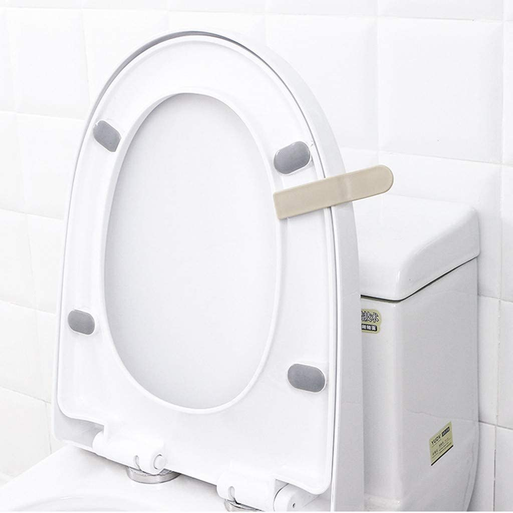 Haluoo Self Adhesive Toilet Seat Lid Lifting Handle Avoid Touching Sticky Toilet Seat Lifter Stick-On Toilet Seat Cover Lift Raise