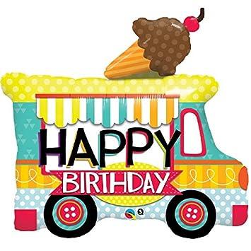 Amazon Qualatex Happy Birthday Ice Cream Truck Shaped 36 Inch Foil Balloon Kitchen Dining
