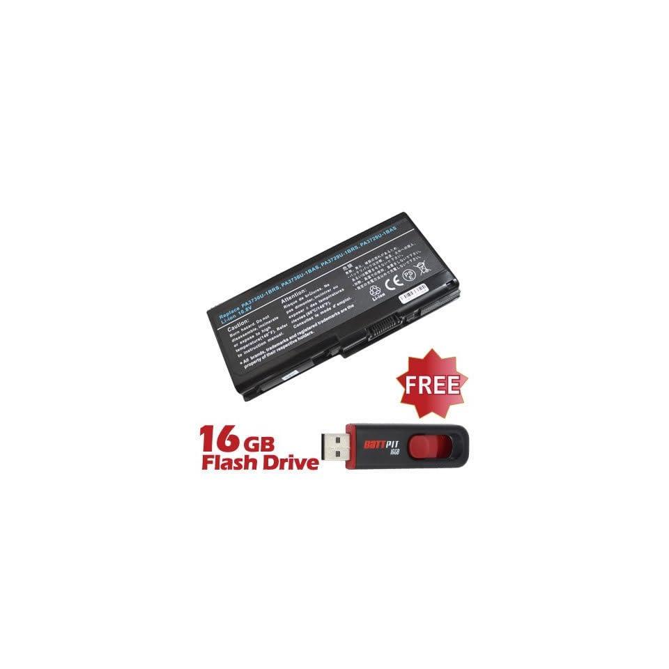 Battpit™ Laptop / Notebook Battery Replacement for Toshiba Qosmio X505 Q888 (4400mAh) with FREE 16GB Battpit™ USB Flash Drive