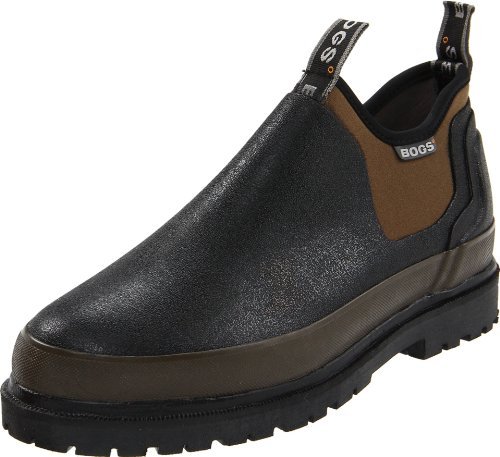 Bogs Men's Tillamook Bay Camo Slip On, Black, 10 D(M) US
