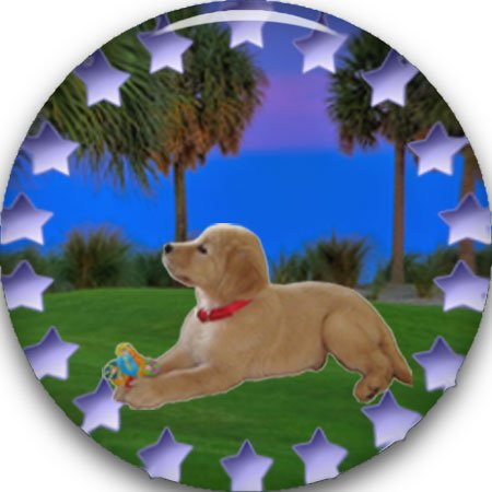 ColorMark Golf Golf Ball Marker 1 inch, Assorted Animal Designs to choose from - puppy (Animal Golf Ball Marker)