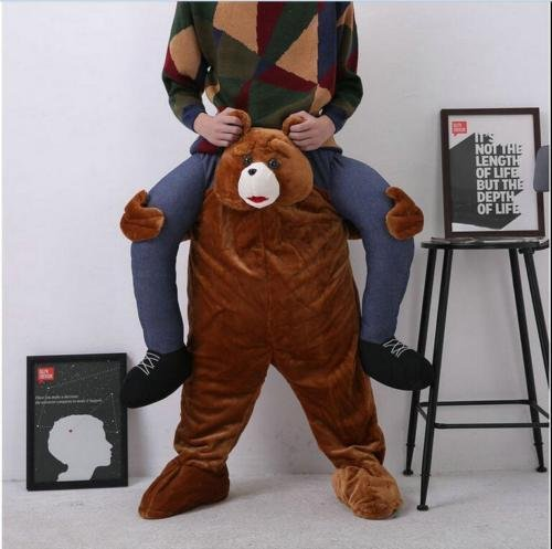 Marketworldcup Carry Me Teddy Bear Mascot Costume Ride On Piggy Back Pants Adults Fancy Dress