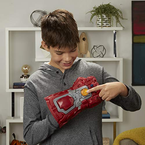 51F1FF7nTEL - Avengers Marvel Endgame Red Infinity Gauntlet Electronic Fist Roleplay Toy with Lights and Sounds for Kids Ages 5 and Up
