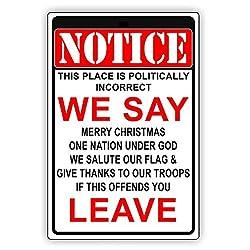 AckfulBeware of Warning Politically Incorrect Sign Flag Plaque Bar Club Wall Decor Art