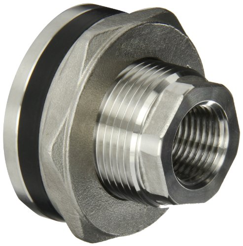 Banjo TF050SS Stainless Steel 316 Bulkhead Tank Fitting, 1/2