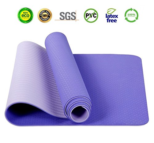 Same Pattern Developed Quality 2018 New Developed Yoga Mat High-density Non Slip Anti-tear Eco Friendly TPE Hot Yoga Mat Exercise Mat Pilates Fitness In Home And Gym 6mm Thickness For Men and Women