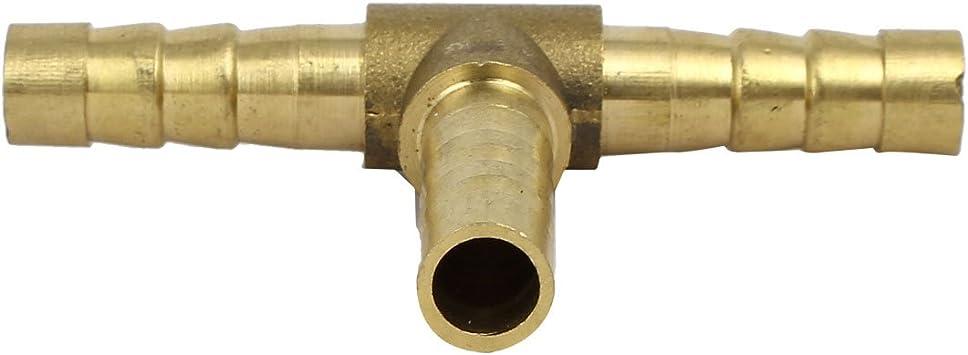 sourcingmap/® 2 Pcs T Forma De Tubo De 3 V/ías Conector Del Tubo De Flujo De Aire Neum/ática De 8 mm De Montaje R/ápido Dia