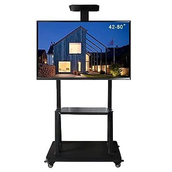 Móvil TV Stand Trolley Carro 42-80 Pulgadas LCD TV Soporte móvil Carrito Piso Soporte