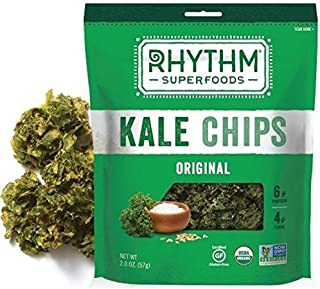 product image for Rhythm Superfoods Organic Original Kale Chips, 2 Ounce -- 12 per case. by Rhythm Superfoods