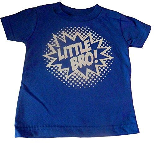 "Custom Kingdom Baby Boys' ""Little Bro"" Superhero T-shirt"